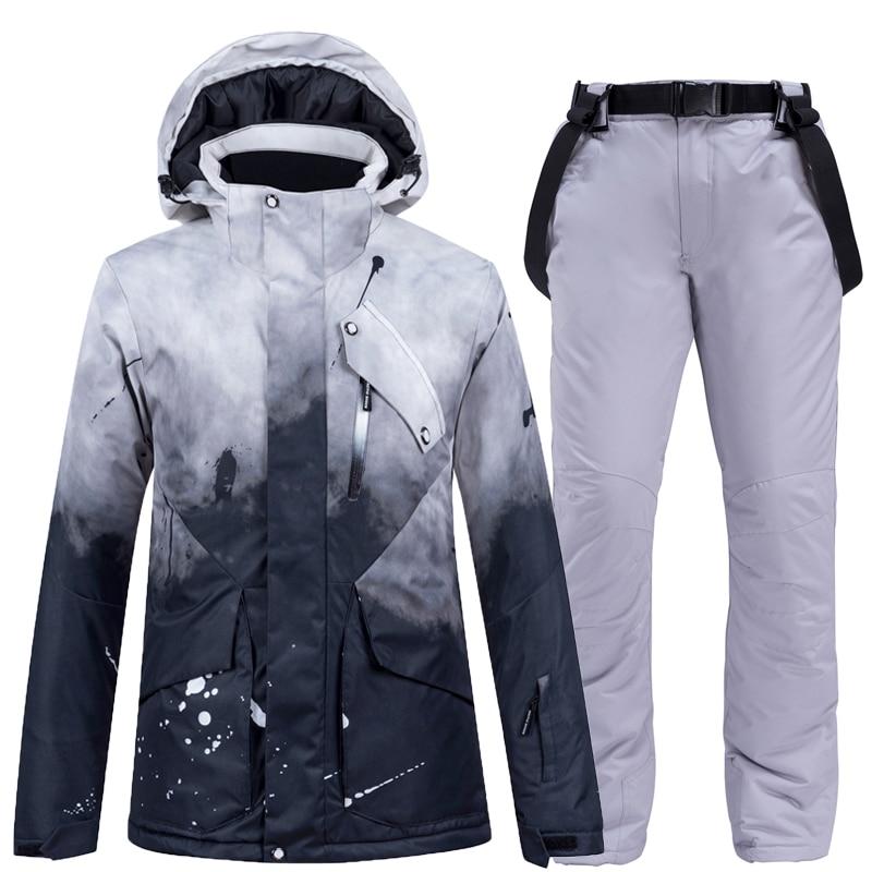 Thick warm Ski suit for Women, waterproof windproof Ski suit and snowboarding jacket, pants set, women winter suits,outdoor wear