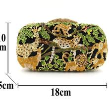Animal Forest Foreign Trade Rhinestone Bag Hollow Metal Crystal Cosmetic Bag