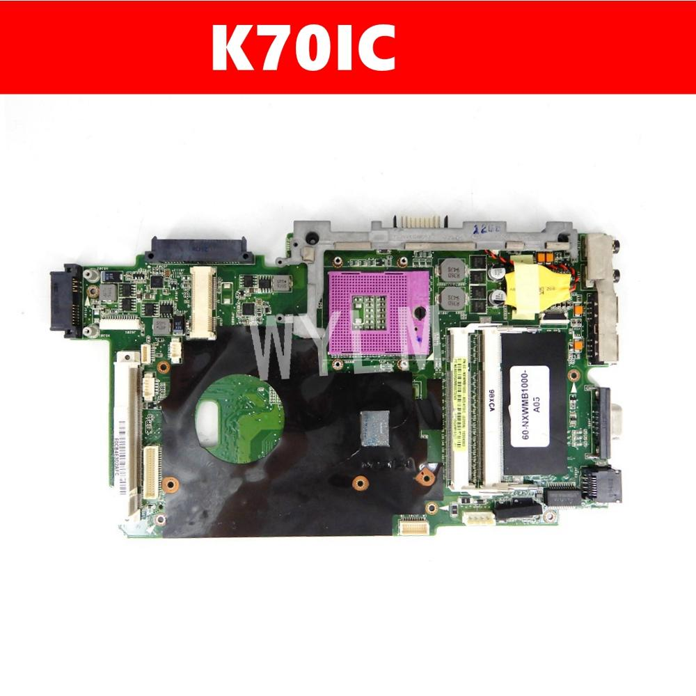 K70IC Mainboard REV2.1 For ASUS K70IC K70I K51IO K51I Laptop Motherboard 100% Test Free Shipping