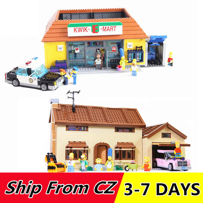 16004 the Kwik E Mart Building Blocks Movie Series Toys Bricks Compatible 71016 71006 16005 the Carton House-in Blocks from Toys & Hobbies    1