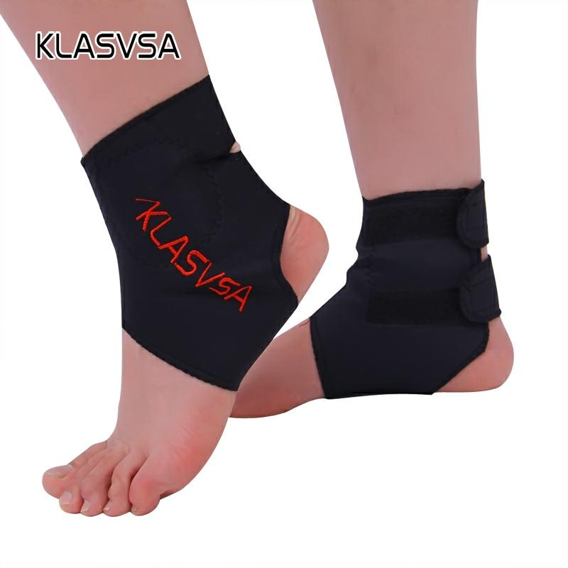 KLASVSA 1Pair Self-heating Tourmaline Far Infrared Ray Magnetic Therapy Ankle Support Brace Massager Pain Relief