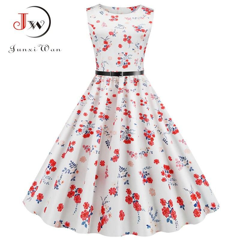 Flamingo Print Women Summer Dress Vintage Sleeveless O-neck Elegant Floral Party Dresses Vestidos Casual Plus Size Robe Femme 6