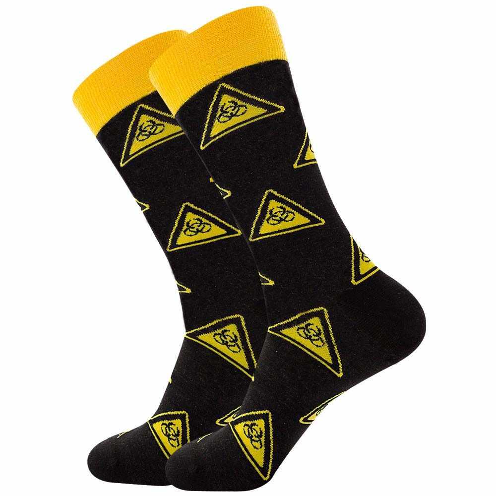 Bunte männer Socken Harajuku Bunte Glückliche Lustige symbol Internationalen schach geometrische Formel Baumwolle Socke Weihnachten Geschenk