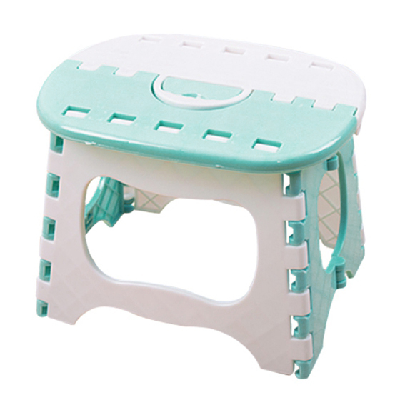 NHBR-Plastic Folding 6 Type Thicken Step Portable Child Stools Light Blue 24.5*19*17.5cm