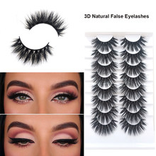 8 Pairs Eyelashes 3D Natural Lashes Long Fluffy Wispy Natural False Fake Lashes Soft Eyelash Lash Extension Supplies Makeup