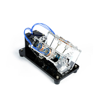 DC brushless motor model engine 5V dc motor Electromagnet Engine Model Transparent High-Speed Motor Automobile Engine цены