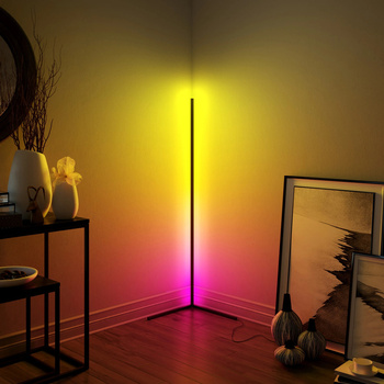 Modern RGB Dimming Remote LED Floor Lamps 365 Type Colours Changing Corner Standing Lamp For Bar Bedroom Decoration Drop Ship