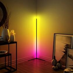 Moderne rvb gradation à distance LED lampadaires 365 type couleurs changeant coin lampe sur pied pour bar chambre décoration livraison directe
