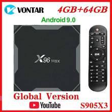 Vontar Amlogic S905X3 אנדרואיד 9.0 טלוויזיה תיבת X96Max בתוספת 8K חכם Media Player 4GB RAM 64GB ROM x96 מקסימום ממיר QuadCore 5G Wifi