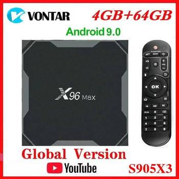 Vontar Amlogic S905X3 Android 9.0 TV BOX X96Max plus 8K Smart Media Player 4GB RAM 64GB ROM X96 Max Set Top Box QuadCore 5G Wifi