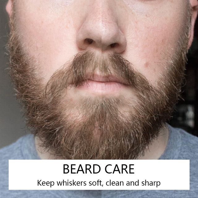 30ml Beard Wax Leave-In Conditioner Natural Groomed Growth Beard Oil Men Avoid Beard Hair Loss Products 4