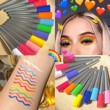 1PC Colorful Neon Opaco Liquido Eyeliner Pencil di Trucco Waterproof Eye Liner Liquido Blu Verde Giallo Occhi Cosmetici Penna(China)