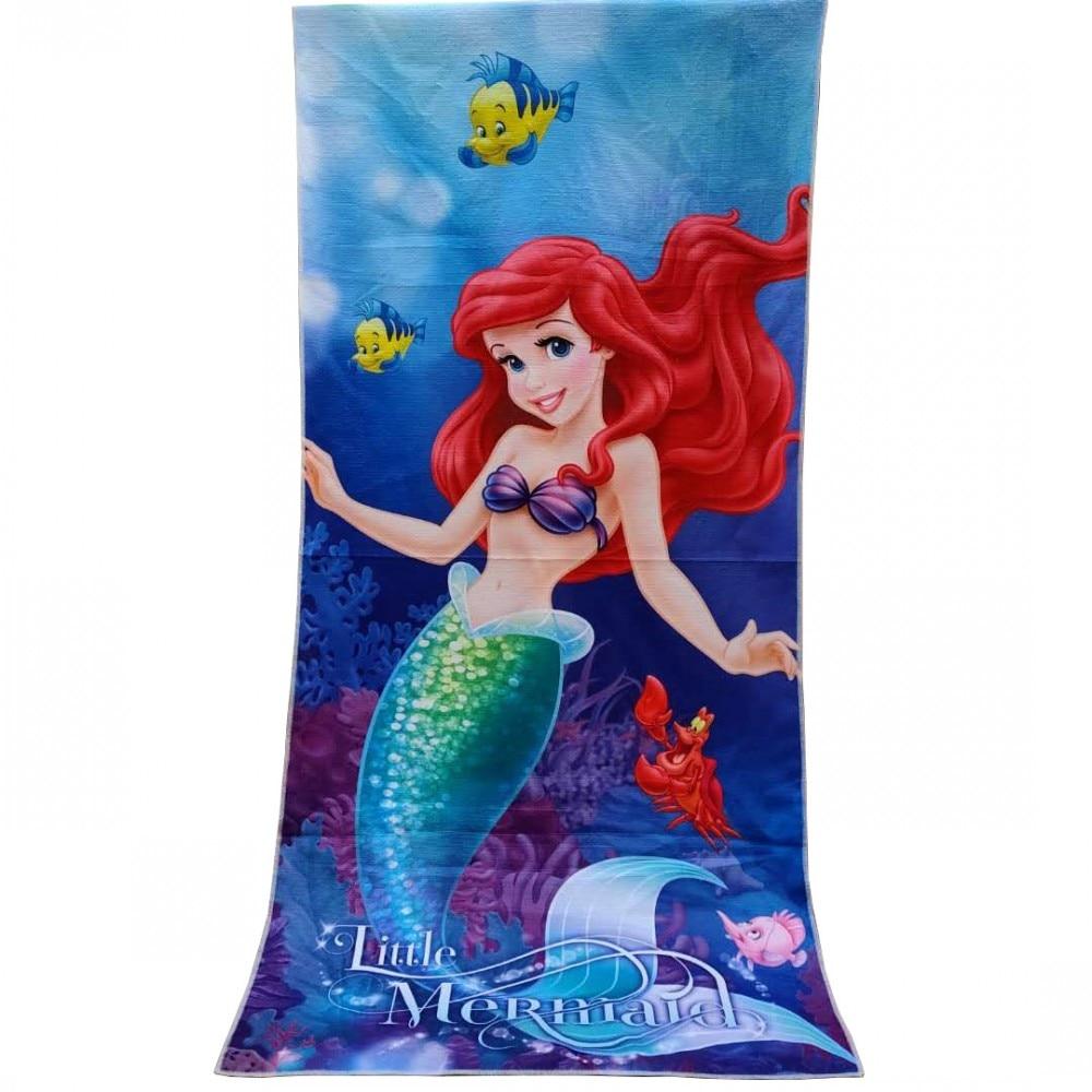 Disney Cartoon Cute Mermaid Princess White Snow Microfibre Home Baby Bath Beach Towel Gift Children Swimming Towel 70X140cm