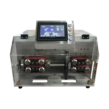 SWT508 YHT2 Automatische Peeling Striping Snijmachine Voor Draad Computer Strip Draden 3-10 Mm Dubbele Ronde Scheden Touch screen