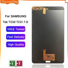 Untuk Samsung Galaxy Tab 4 7.0 SM-T230 T230 LCD Display Rakitan Digitizer Layar Sentuh Panel Tablet LCD Pengganti T230(China)