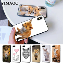 fox cute lovely animal Silicone Case for iPhone 5 5S 6 6S Plus 7 8 11 Pro X XS Max XR