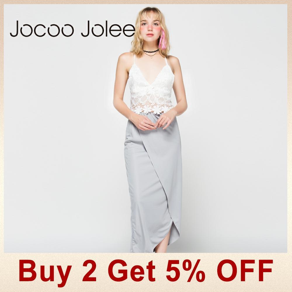 Jocoo Jolee ženske obleke s čipkastim telovnikom 2 kompleta Poletna - Ženska oblačila - Fotografija 2