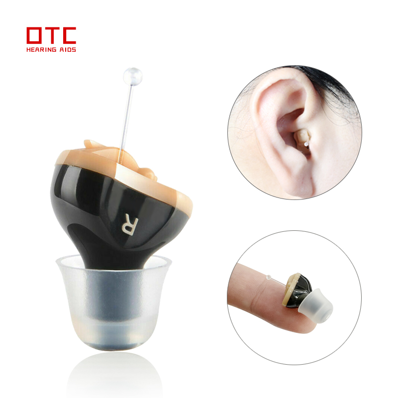 Micro Hearing Aid for Seniors Invisible Hearing Aids for deafness headset Adjustable Wireless with Sound Amplifier