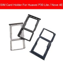 Uchwyt na tacę pamięci i karty SIM do Huawei P30 LITE P30LITE NOVE 4E MAR-LX1M MAR-LX2J czytnik kart Sim i Micro Sd