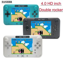 Retro fc embutido 208 bateria 1000mAh jogo Retro jogo handheld console de 4.0 polegada de Vídeo HD LCD 360 ° duplo controle joystick jogo c