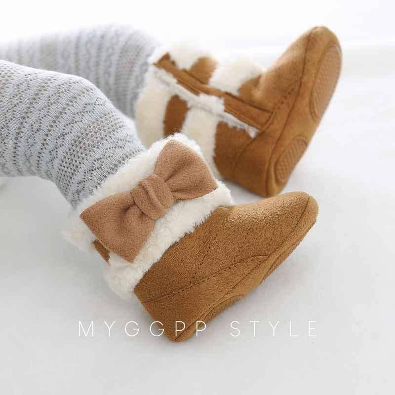 أحذية أطفال طويلة الوليد الشتاء زائد المخملية الفتيات الأحذية الدافئة الرضع الأحذية طفل الفتيات الثلوج الأحذية طفل