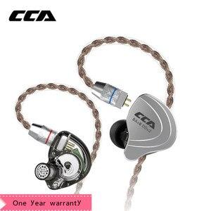 Image 1 - CCA C10 4ba + 1dd hybrydowe słuchawki douszne Hifi Dj Monito Running słuchawka sportowa 5 jednostka napędowa zestaw słuchawkowy słuchawki z redukcją szumów
