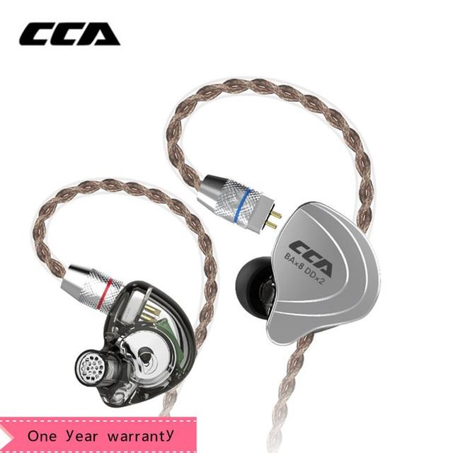 CCA C10 4ba + 1dd hybrydowe słuchawki douszne Hifi Dj Monito Running słuchawka sportowa 5 jednostka napędowa zestaw słuchawkowy słuchawki z redukcją szumów