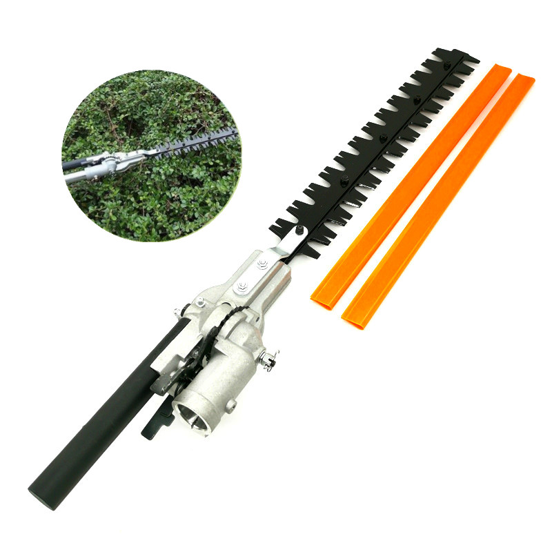 Hedge Trimmer head 26mm/28mm 7/9 Spline 5.3mm Square High Pole Brush Grass Cutter Harvester mower For Garden Tools Spare Parts