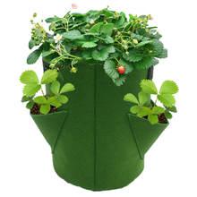 Chaud! Fraise plante cultiver sac maison jardin Portable pomme de terre fleur légumes planteur Pot