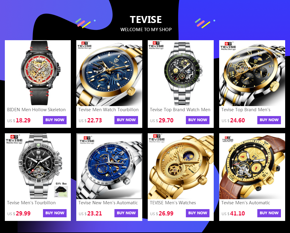 Male discount TEVISE Watches 20
