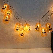 20 Led Halloween Pumpkin String Lights Garden Home Party Decoration Holiday Light Lanterns