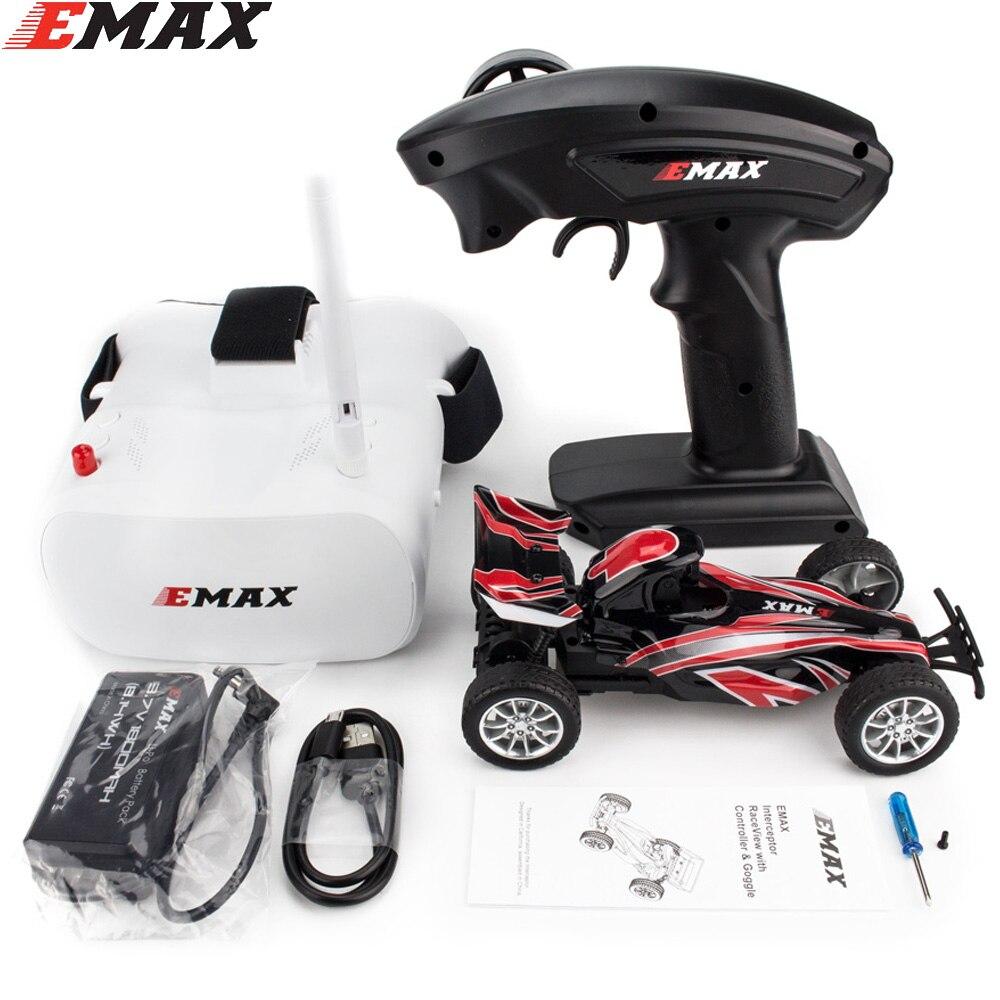 Emax-Interceptor de coche de carreras con cámara FPV, 2,4G, Radio Control de alta velocidad, gafas de gafas, coche RC 2 ~ 3S RTG, versión para regalo