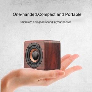 Image 4 - Wooden Bluetooth Mini Speaker 1200mAh High Power Wireless Subwoofer Portable Bass Column