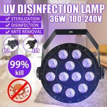 36W Rechargeable Ultraviolet UV Sterilizer Light Tube Bulb Disinfection Bactericidal Lamp Ozone Sterilizer Mites Lights US/EU