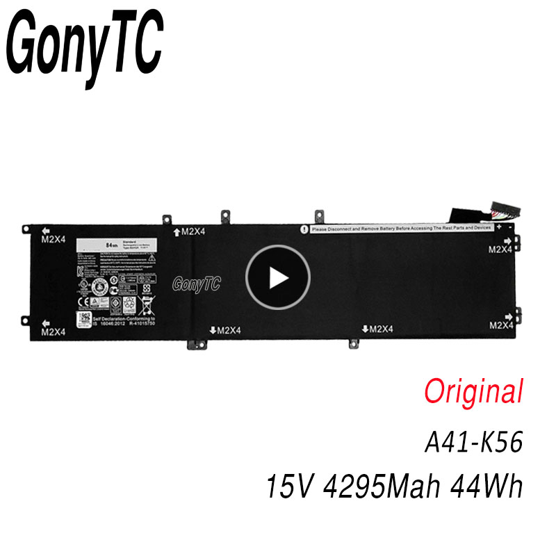 GONYTC 4GVGH Laptop Battery for DELL Precision 5510 XPS 15 9550 series 1P6KD T453X 11.4V 84WH image