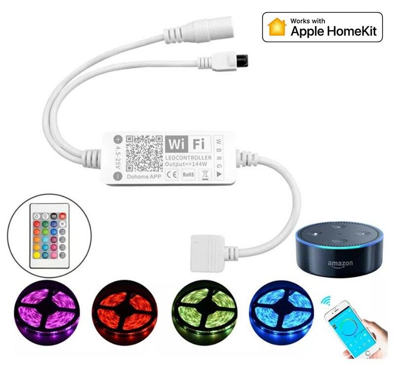 DC5-25V 144W 5Pin LED Streifen Licht Controller mit Apple HomeKit APP WiFi RGBW Stimme Steuer Arbeit Mit Alexa Google assistent