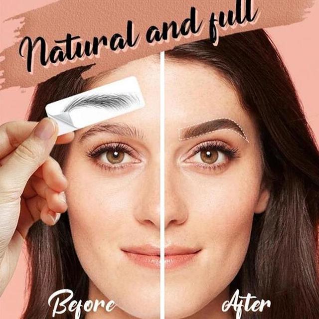 4D Hair-like Eyebrow Tattoo Sticker False Eyebrows Water-based Eye Brow Stickers Eye Brow Patches Cosmetics Eyebrow Pads 3Model
