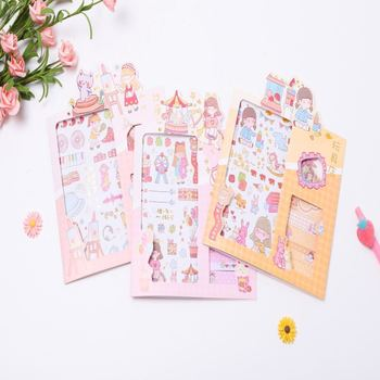 Creative Cartoon Character Is Hand Book Material Sticker Stationery Sticker Children Stationery Gift Sticke image