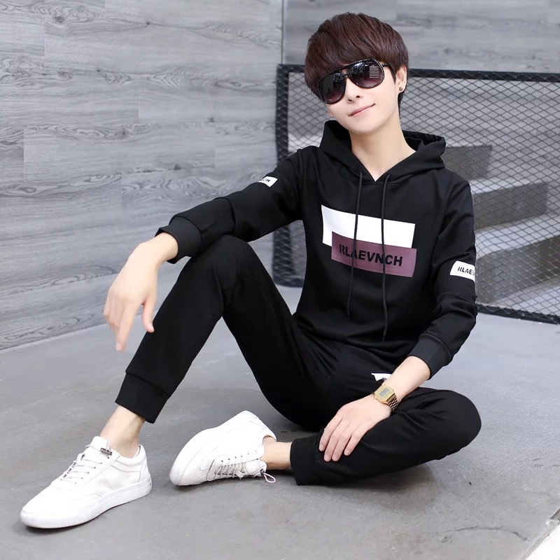 Spring Men Leisure Set 12-15-Year-Old Big Kid Boy Clothes 13 Teenager Junior High School Students Boy Spring Clothing