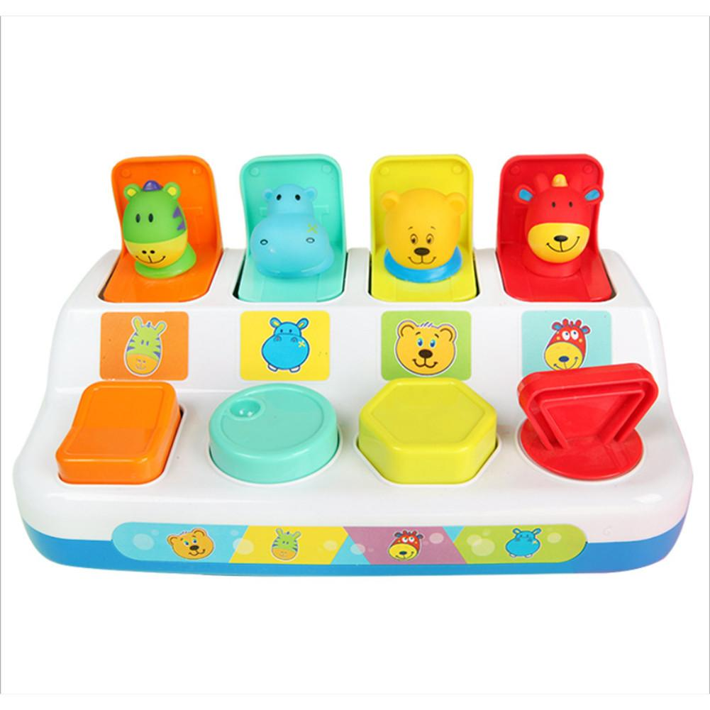Peekaboo Pop-Up Toy Switch Box Button Box Treasure Scare Box Baby Intelligence Push Doll Toys For 1-3 Years Old Baby