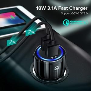 Image 2 - Автомобильное зарядное устройство с двумя USB портами 3,1 А, быстрая зарядка 3,0 для Audi A6 C5 BMW F10 Toyota Corolla Citroen C4 C3 Nissan Qashqai Ford Focus 3 2