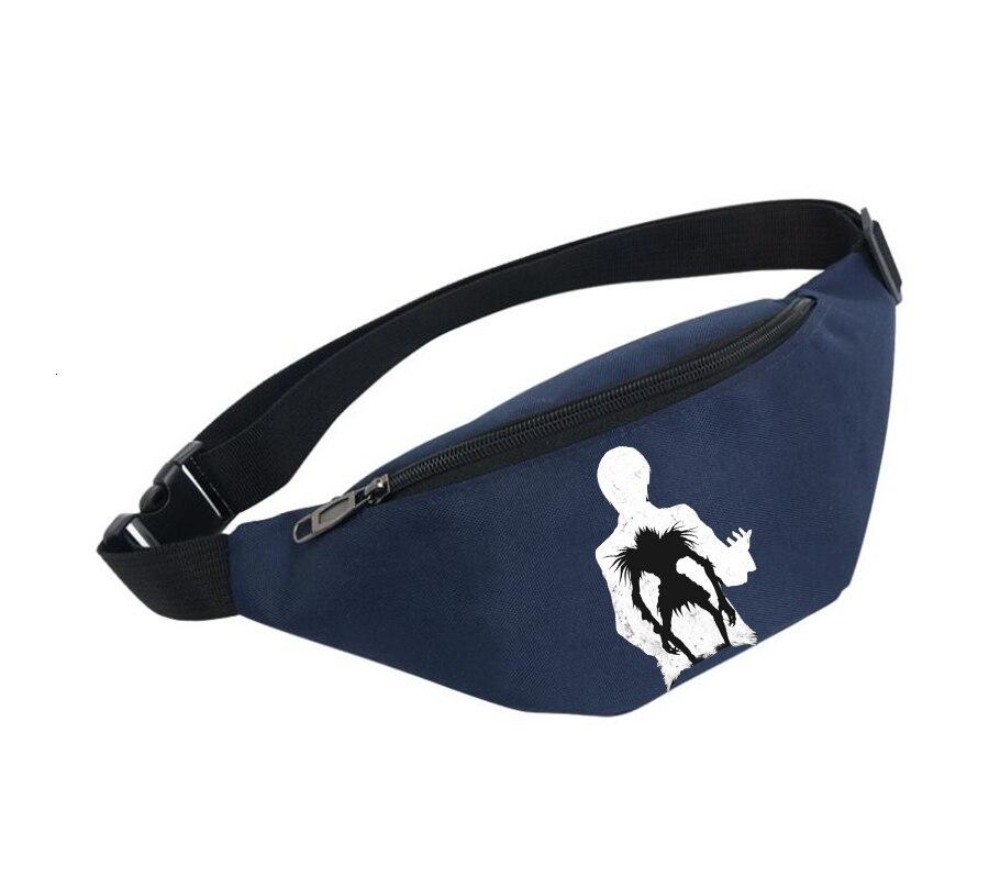 Unisex Fanny Pack Women Belt Waterproof Chest Handbag Waist Bag Ladies Waist Pack Belly Bags For Anime Death Note