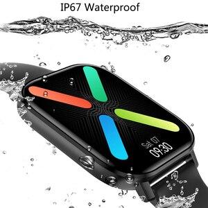 Image 3 - ساعة ذكية مع شاشة IPS مقاس 1.75 بوصة للرجال والنساء ، مقاومة للماء ، مع التحكم في معدل ضربات القلب وضغط الدم ، لأجهزة Android و Iphone