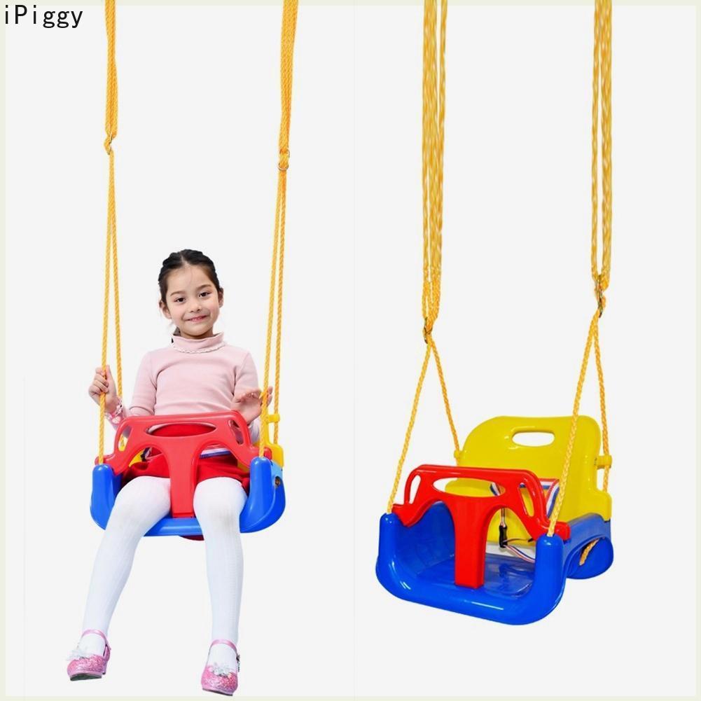 Balançoire pour enfants iPiggy maison extérieure 3 en 1 bébé balançoire jouets pour enfants bébé balançoire suspendu panier jouets éducatifs