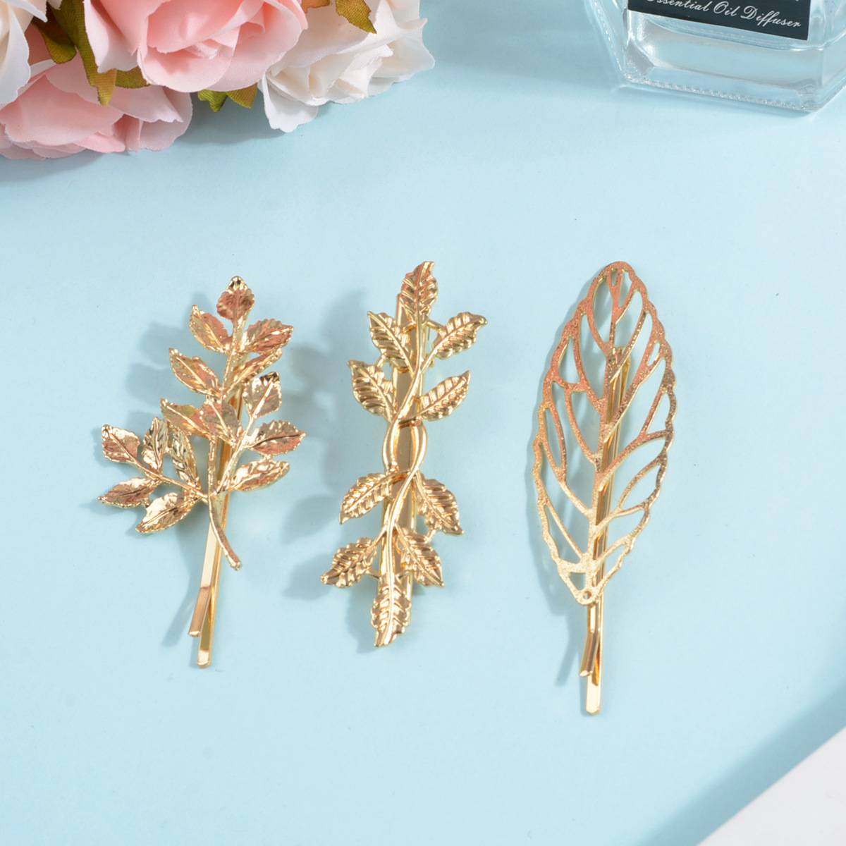 1PC Fashion Metal Hair Clips Leaf Feather Shape Barrettes For Women Geometry Hairpins Headwear Hair Accessories Styling Tools