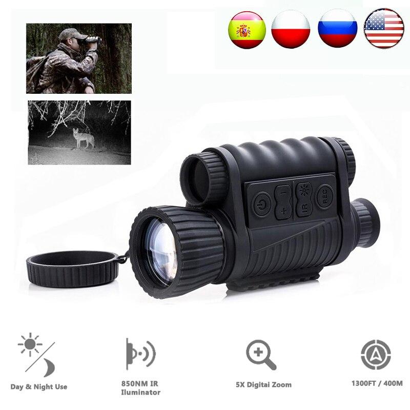 Цифровой оптический Монокуляр WG650 6X50 для ночной охоты, ночного видения, дальность 200 м, телескоп с ночным видением, изображение и видео