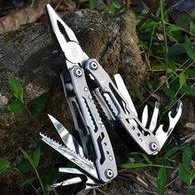 Alicates multifunción de acero inoxidable para Cuchillo de bolsillo, minialicates plegables portátiles, T4025