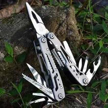 Pliers Pocket-Knife Folding Multi-Tool Stainless-Steel Mini Portable T4025