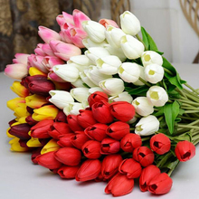 Tulip Real-Touch Flowers Crafts Artificial-Bouquet Wedding-Decoration Mini for 10pcs