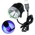 Lámpara de curado de pegamento UV USB de 5V LED ultravioleta de aceite verde secador de luz púrpura para la reparación de la placa de circuito del teléfono